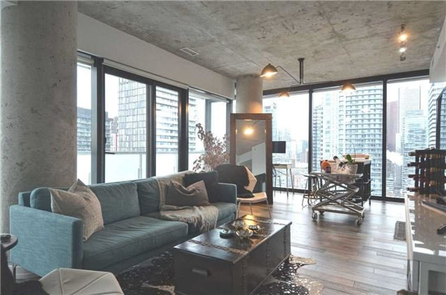 King West Condo Living Room